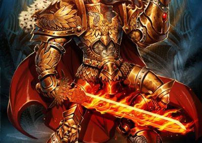 Illustration the god emperor of mankind warhammer 40k