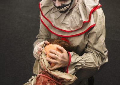 Cosplay du clown d'american horror story