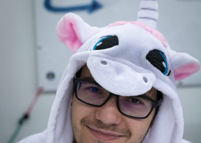 Cosplay de licorne sur le stand midway's network